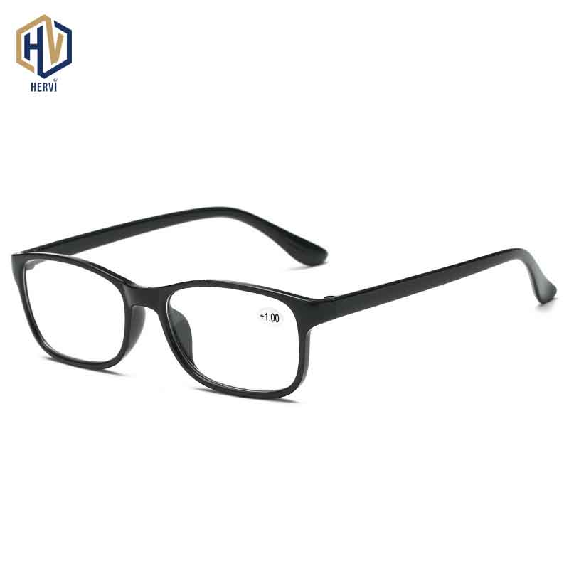 2020 Square Resin Reading Glasses Men Women TR90 Ultralight Portable Small Frame +1.0~+4.0
