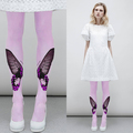 Quality t ruslana HARAJUKU butterfly print fashion 140d velvet pantyhose legging stockings