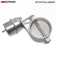 Tansky High Quality NEW Boost Activated Exhaust Cutout Dump 70MM CLOSED Style Pressure About 1 BAR