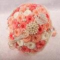 Оранжевый бисера брошь горный хрусталь свадебные букеты рамо novia букет флер mariage bruidsboeket букет sposa cristallo