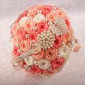 orange beaded brooch rhinestone wedding bridal bouquets ramo de novia bouquet fleur mariage bruidsboeket bouquet sposa cristallo