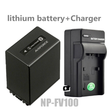 NP-FV100 NPFV100 Digital Camera Batteries+Charger NP-FV100 lithium battery For Sony NP FV50 FV70 HDR XR550 CX760 PJ760 PJ790 new professional 3300mah for np fv100 rechargeable new camera battery pack for sony camcorders camera accessories 1 pcs hot sale