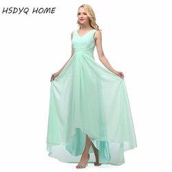 В наличии Длинные свадебные платья настоящая фотография дешевые платья подружки невесты v-образным вырезом шифон Империя 2017