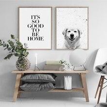 Modern Style Dog Canvas Printing