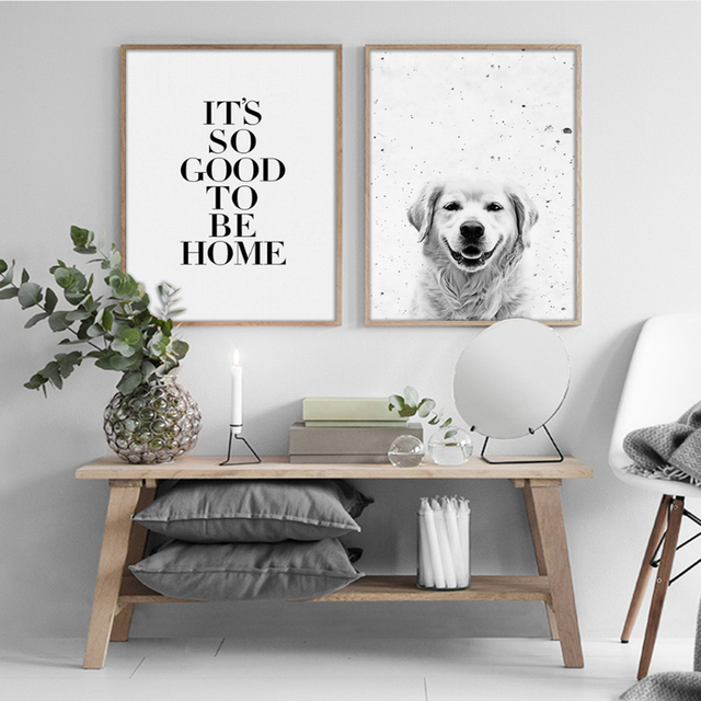 Minimal Animal Canvas Paintings Black White Animal Wall Art Nordic Posters  Prints Pictures For Living Room