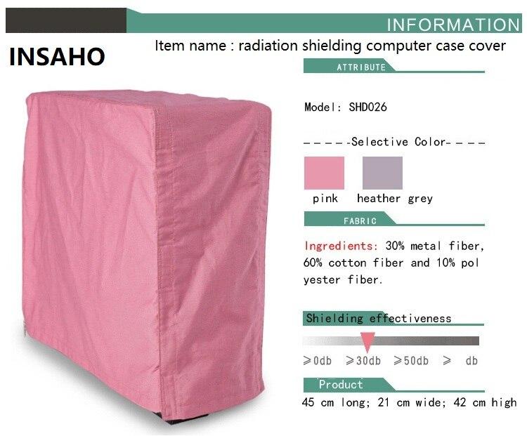 INSAHO Radiation shielding computercase cover,radiation desktop host protection cover,metal fiber,30DB shielding efficiency.