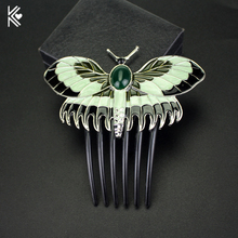 New Cute Butterfly Hair Combs Women Hairwear Luxurious Vintage Wedding Hair Jewelry Accessories Party Gift Bridesmaid Hairwear