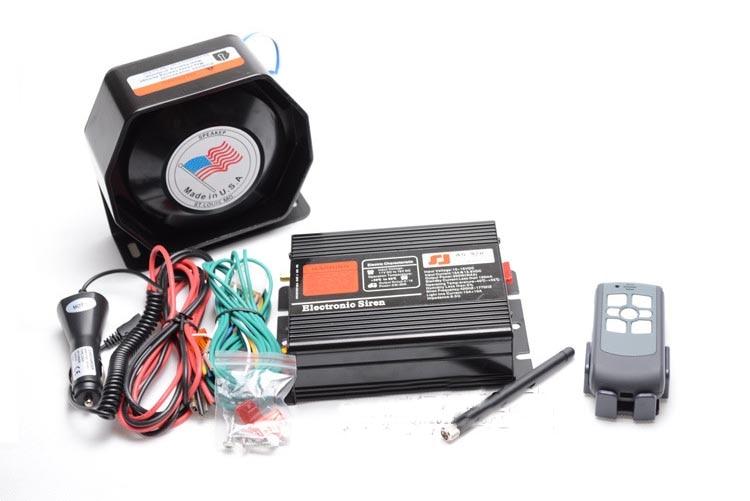 Police Siren AS920 200W Waterproof Car Alarm Siren Horn Wireless Remote Control Alarm Police Horn Megaphone Speaker Police Siren