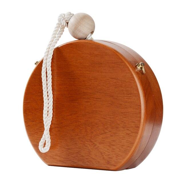 Wristlets Clutch Bag Round Box Women Party Evening Bag 4