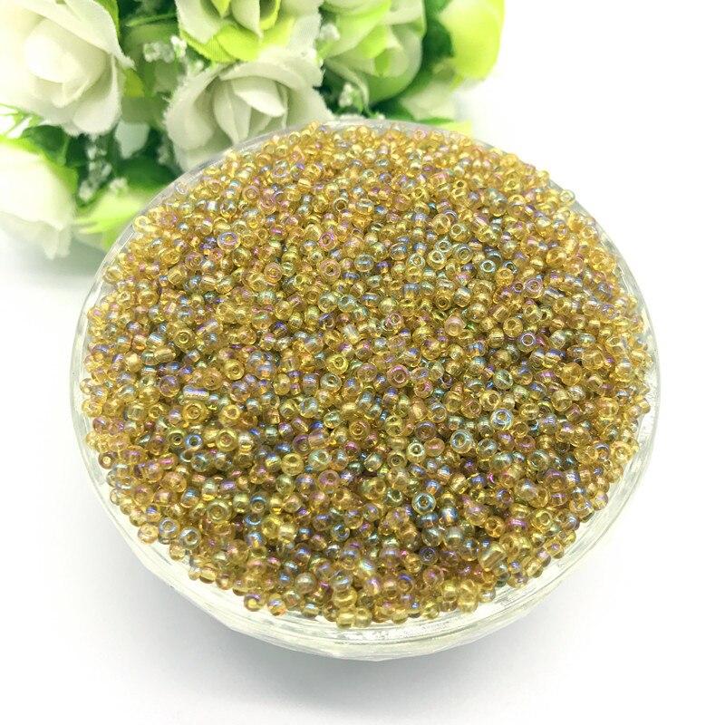 1000 шт 2 мм очаровательный чешский стеклянный бисер DIY браслет ожерелье для изготовления ювелирных изделий Аксессуары - Цвет: 58