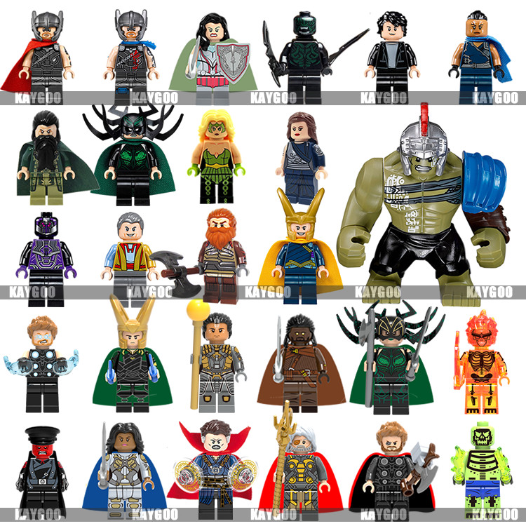 32pcs Avengers Endgame For Lego Minifigures Superhero Building Block Iron Marvel