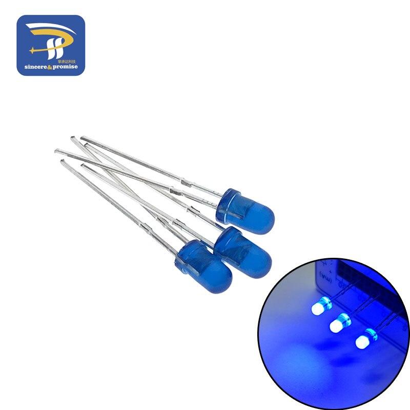 5 цветов s* 20 шт = 100 шт/1 цвет = 100 шт F3 3 мм светодиодный диодный светильник Ассорти комплект зеленый синий белый желтый красный набор компонентов «сделай сам» - Цвет: Blue 100pcs