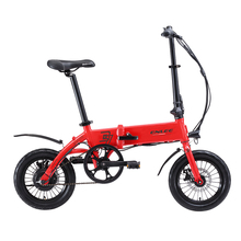 Folding Electric Bike 36V*10.4 AH Lithium Battery Electric Bicycle 14″ Mini Folding EBike Frame Inner Removable Battery Relased