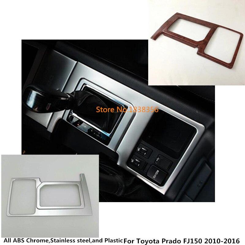 Pour Toyota Prado FJ150 2010 2011 2012 2013 2014 2015 2016 bâton de voiture ABS chrome milieu avant changement de vitesse palette coupe cadre garniture
