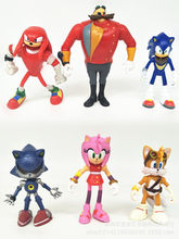 Sonic Boom Hedgehogs Sticks Tails Amy Rose PVC Action Figures Knuckles Dr. Eggman Anime Figurines Dolls Kids Children Toys(China)