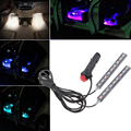 For Avto VAZ LADA Grant Kalina Largus Priora 4-in-1 In Car Auto Charge Interior LED Atmosphere Lights 9-LED Decoration Lamp