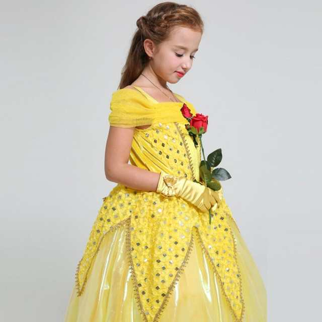 3a42112d432d1 placeholder Child cosplay Girl Beauty and beast cosplay carnival costume  kids belle princess dress For 4-
