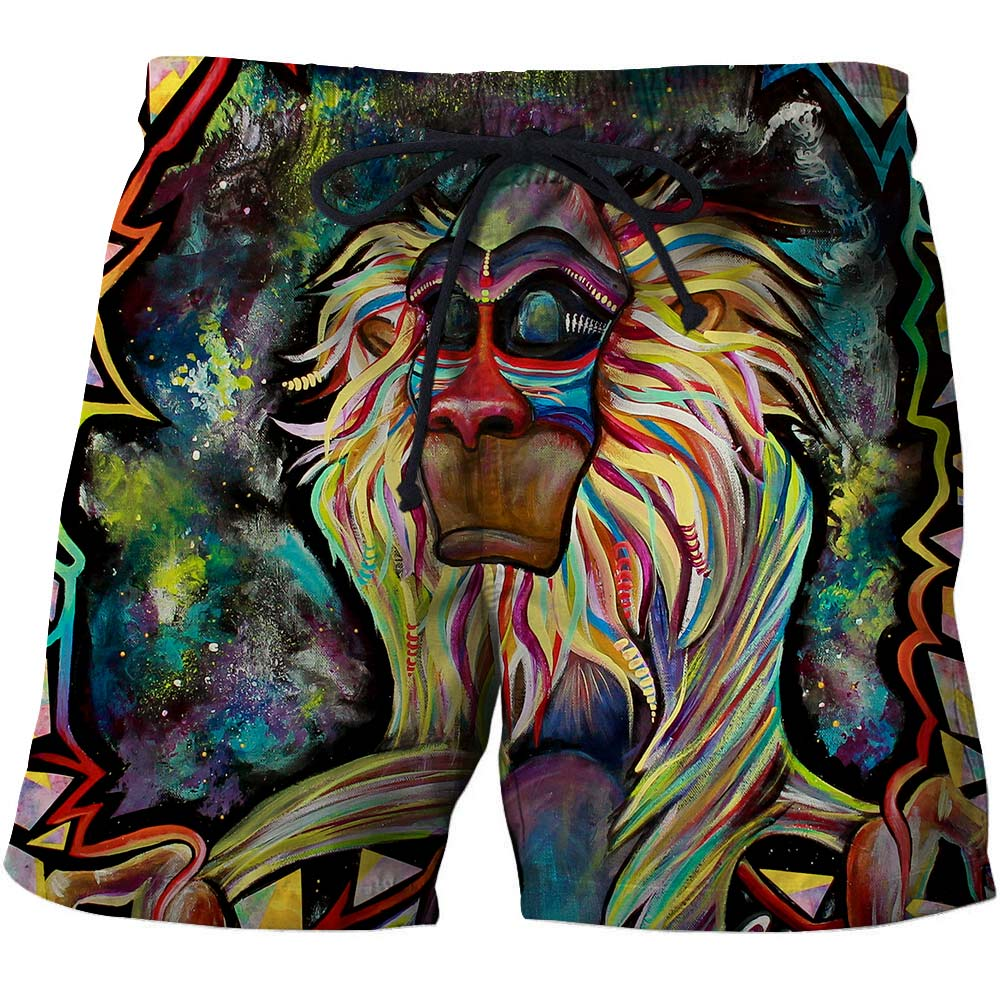 Creativity Animal Men T-Short Summer Surfing Beach Quick Dry Pant Shorts 3D print Vacation Bodybuilding Breathable Fitness Male