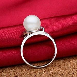 Image 3 - Sinya 925 Anello in argento sterling con 9 10mm dacqua dolce naturale della perla Gioielleria Raffinata di marca di nozze anello di Fidanzamento per le donne amante