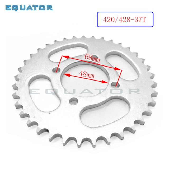 Plaque de roue dentelée pour 90CC-160cc | 48mm 420 428 - 37T plaque de pignon de chaîne arrière YCF SDG Thumpstar atv Stomp pit dirt bike