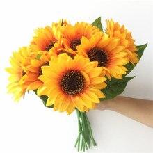 Silk Single Stem Sunflower 30cm/11.81 Length Artificial Flowers Sunflowers Chrysanthemum Yellow Color for Wedding Centerpiece 09 vertical single joint potentiometer b5k flower stem length 13mm