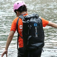PVC Waterproof Dry Bag 30L Outdoor Travel Foldable Rain Cover Trekking Bag Beach Swimming Bag Rafting River Ocean Backpack