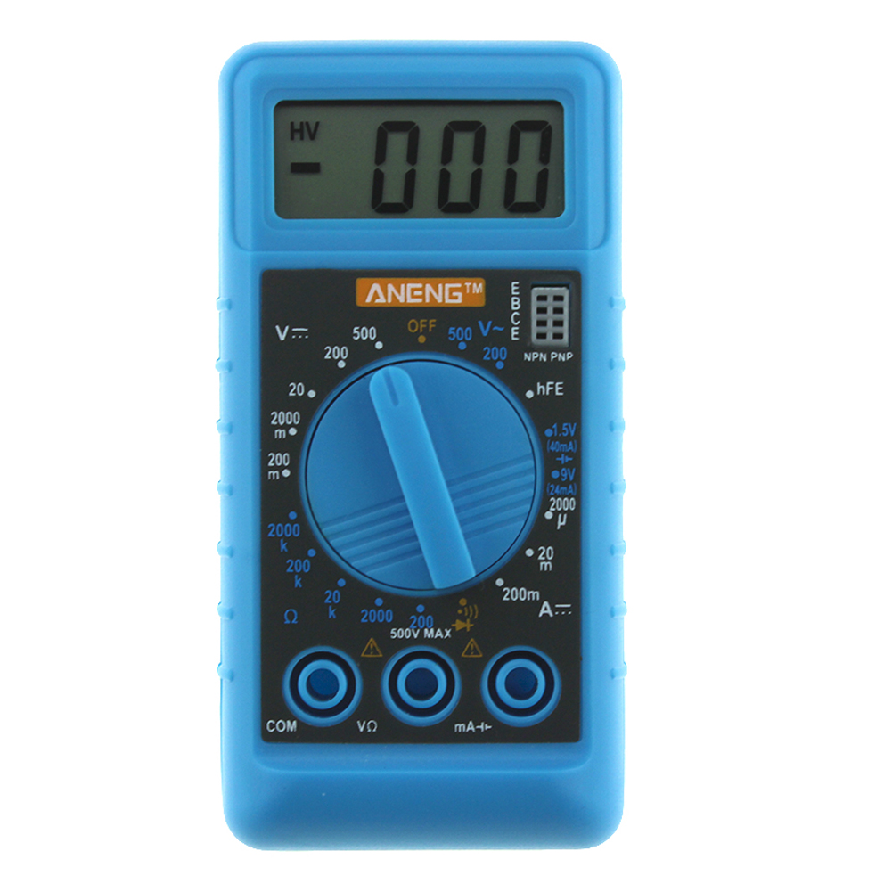 Handheld Mini DMM Digital Multi Meter OHM Test Voltmeter Ammeter with Buzzer Overload protect Pocket Voltage Ohm Meter Test