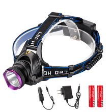 Eletorot XML T6 3800LM Waterproof Zoom LED Headlight Head Lamp Light Zoomable Adjust Focus Headlamp For Bicycle Camping Hiking