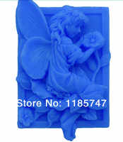 Envío Gratis molde de jabón de silicona hecho a mano con forma de flor de niña
