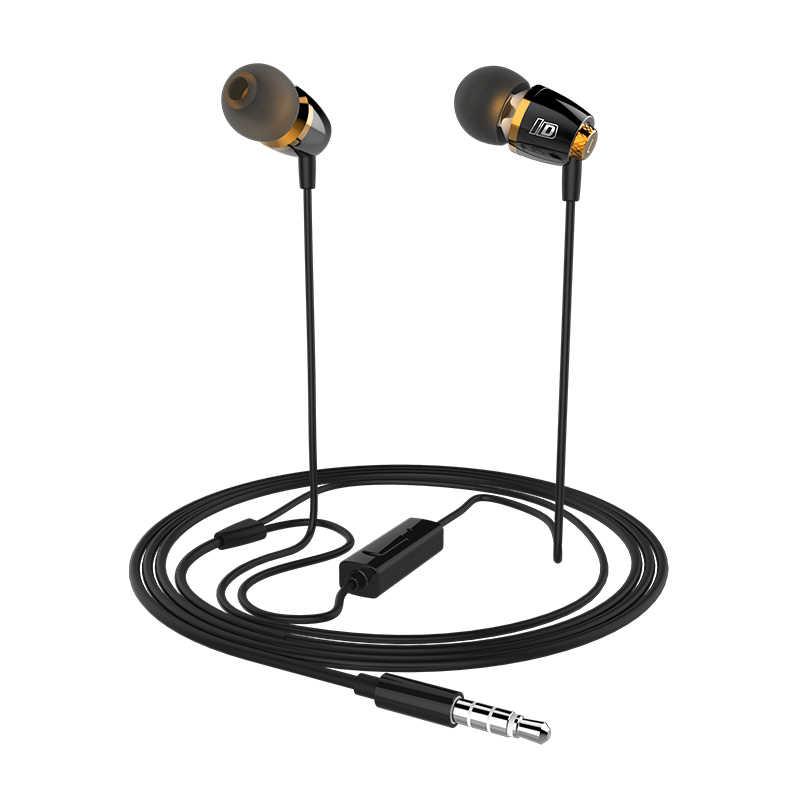 Leadstar, Sempurna Efek Bass 3.55mm Paduan Kabel In-Ear earphone dengan Mikrofon untuk speaker, mp3 player, saya telepon