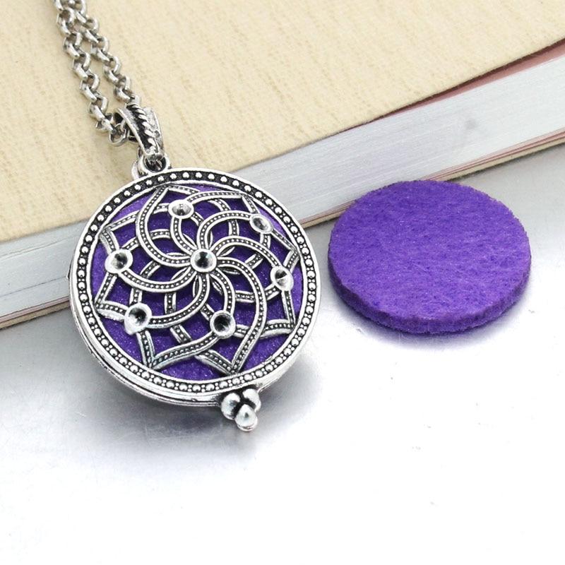 1 шт. аромадиффузор ожерелье Открытый Античный винтажный медальон кулон парфюм эфирное масло ароматерапия медальон ожерелье с подушечками - Окраска металла: 031216