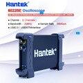 Hantek ноутбук ПК USB цифровой Виртуальный осциллограф 2CH осциллограф 6022BE 20 МГц Портативный Osciloscopio