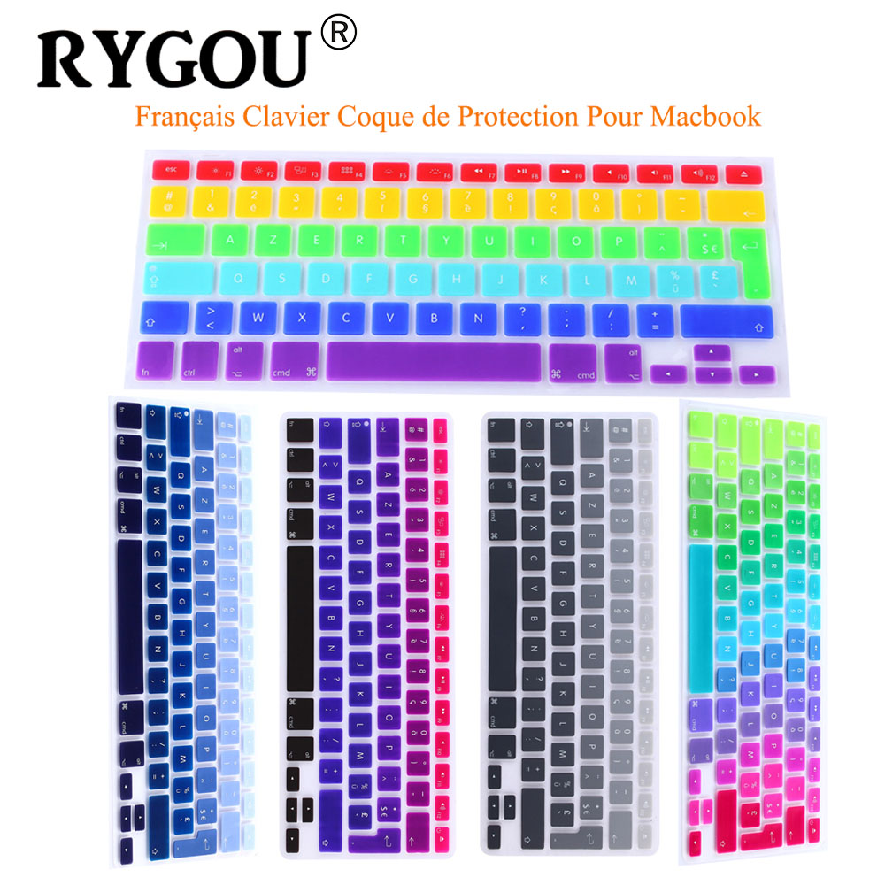 Typographic Book Cover Keyboard : Rygou rainbow clavier french azerty keyboard cover skin