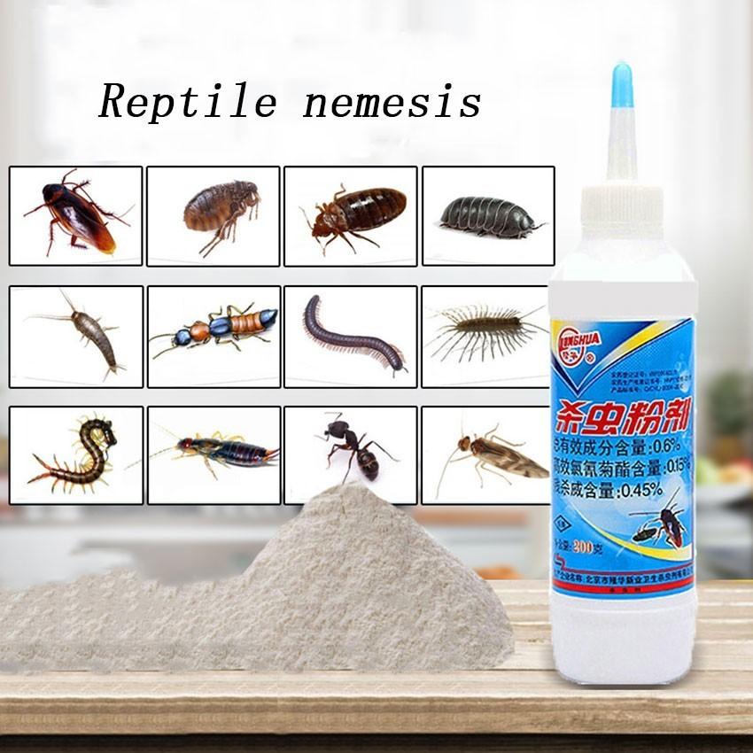 Eficaz fuerte cucarachas Chinches asesino polvo para matar Chinches pulgas hormigas Chinches y Microspie plagas para el hogar