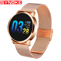 SYNOKE Fashion Smart Watch Men Women Heart Rate Monitor Blood Pressure Touch Pedometer Health Sport Watches For Android IOS