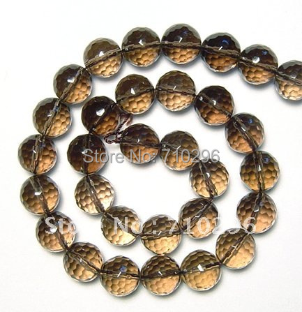 Smok y Quartz Crystal 12mm Faceted Natural natural stone Quartz Beads.3 string/lot.40cm/string