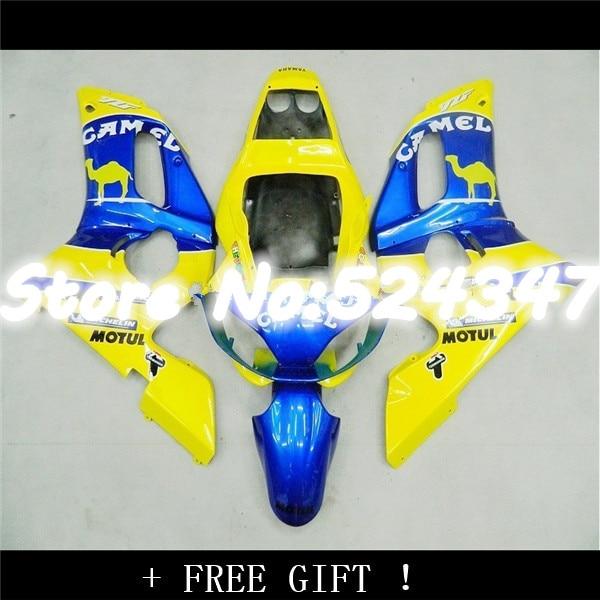 100% nouveau jaune bleu kit de Carénage pour YZF-R6 98-02 YZF R6 98 99 00 01 02 YZF 600 R6 1998-2002 ABS kits de carénage