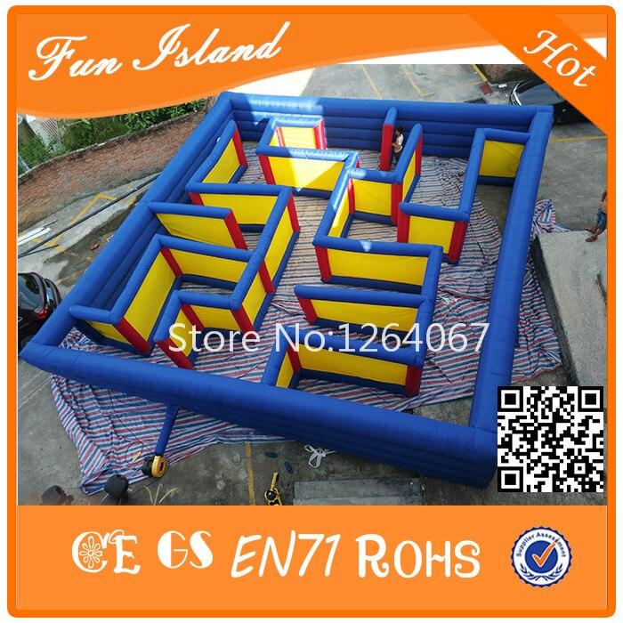 Grands jeux de labyrinthe en plein air jouets gonflables de labyrinthe à vendre, jeux d'amusement jeux gonflables de labyrinthe de Puzzle pour des enfants et des adultes