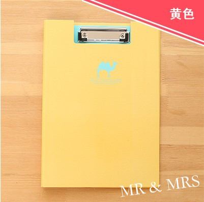 high quality candy color a4 paper clipboard menu office file paper