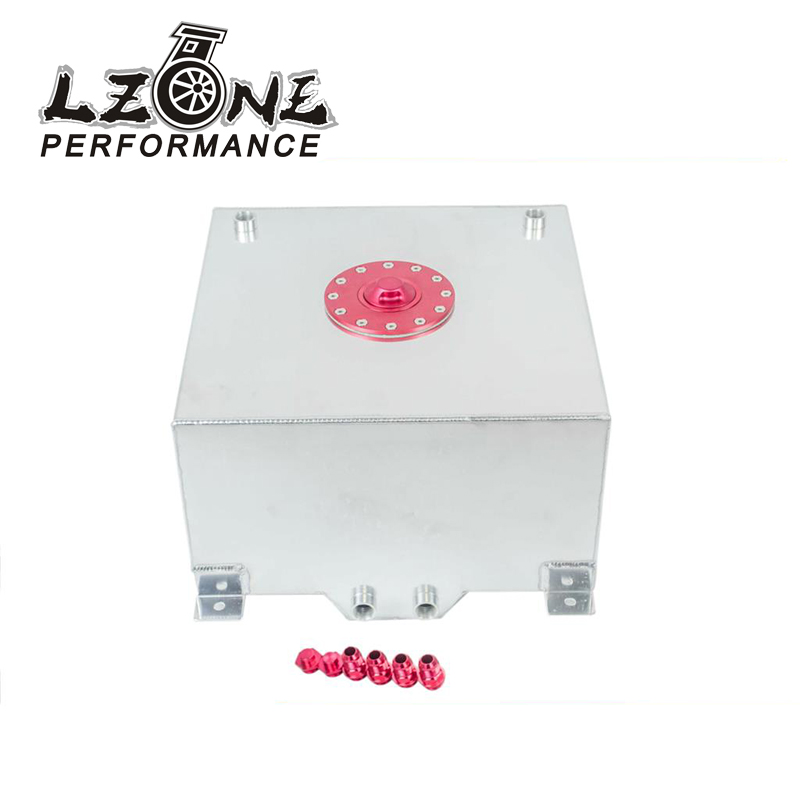 LZONE RACING - 15 GALLON/56.8L RACING ALUMINUM GAS FUEL CELL TANK WITH BILLET RED CAP FUEL SURGE TANK JR-TK72 gas fuel cap