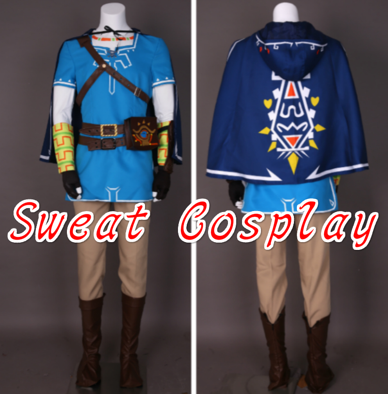 High Quality The Legend of Zelda Breath of the Wild Link Cosplay Costume Adult Men Full set Halloween Cosplay Costume-in Game Costumes from Novelty ... & High Quality The Legend of Zelda Breath of the Wild Link Cosplay ...