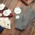 free shipping Solid long-barreled knee socks Gaotong knee socks female cotton socks piles of socks Japanese Sen female line 2015