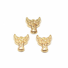 10pcs/lot Metal Gold Plating Angel Floating Charms For Living Glass Floating Lockets Women Necklace DIY Jewelry(China)