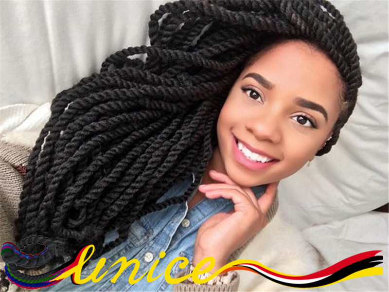 "Black Hair Twist Styles Pictures: African Braids Hairstyles Black Women Hair 22"" 2pcs"