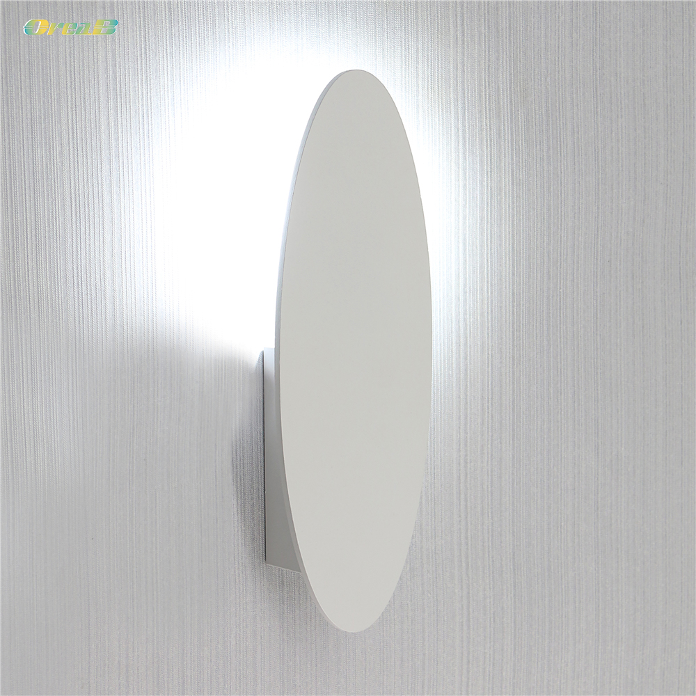 5W 361Lm Contemporary Flat Wall Mounted Sconce Light Fixtures For Living Room Bedroom Bedside Warm Cold