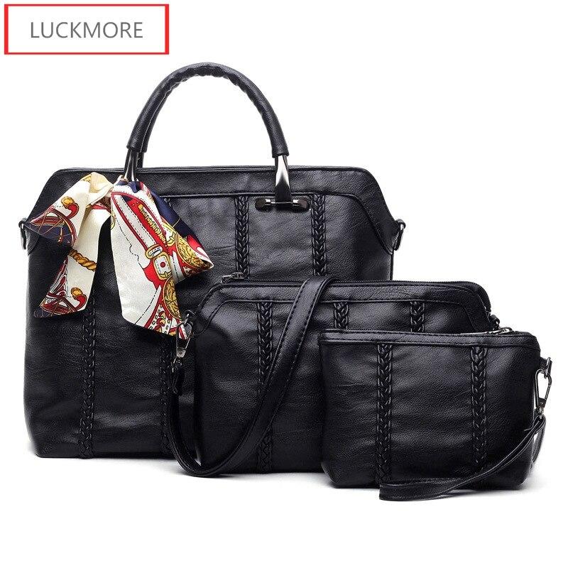 Sac à main Designer haute qualité femmes sac 2016 sacs à bandoulière de luxe pour femmes Messenger Lady sac en cuir sac à bandoulière femmes 3 ensemble