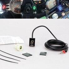 For Kawasaki NINJA 250R 300 400 400R 650 650R 1000 ZX6R ZX6RR LED Electronics 1-6 Level Gear Indicator Moto Speed Digital Meter