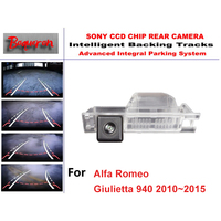 for Alfa Romeo Giulietta 940 2010~2015 CCD Car Backup Parking Camera Intelligent Tracks Dynamic Guidance Rear View Camera