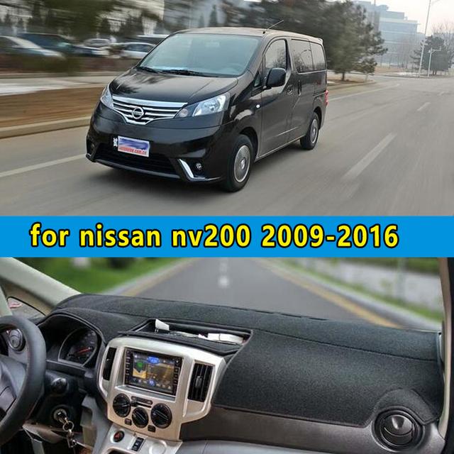 Dashmats-car styling acessórios do carro tampa do painel para nissan Evalia nv200 Vanette 2010 2011 2012 2013 2014 2015 2016