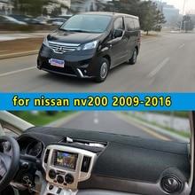Dashmats car-styling accesorios del coche del tablero de instrumentos cubierta para nissan nv200 Vanette Evalia 2010 2011 2012 2013 2014 2015 2016
